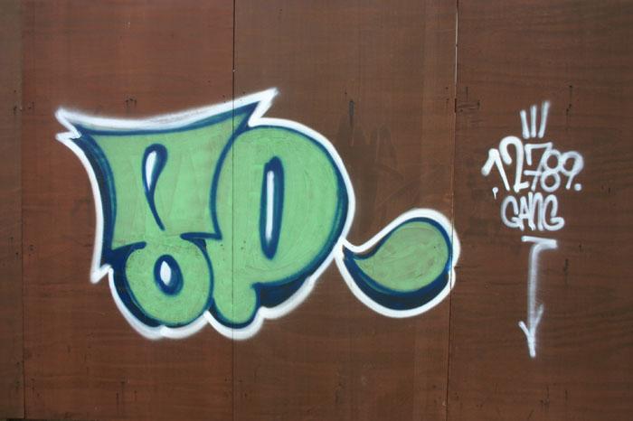 Uma das pinturas no centro da cidade