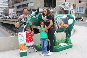 Shirley, Irani, Iamani e Ana Luisa na Avenida Paulista