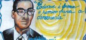 Anísio Teixeira: pintura do grafiteiro baiano Thito Lama