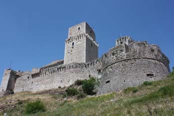 Vista lateral da antiga fortaleza