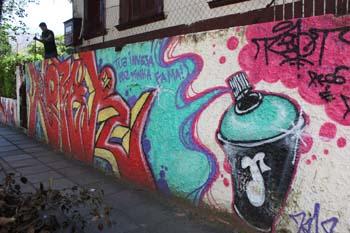 Grafite no centro de Novo Hamburgo