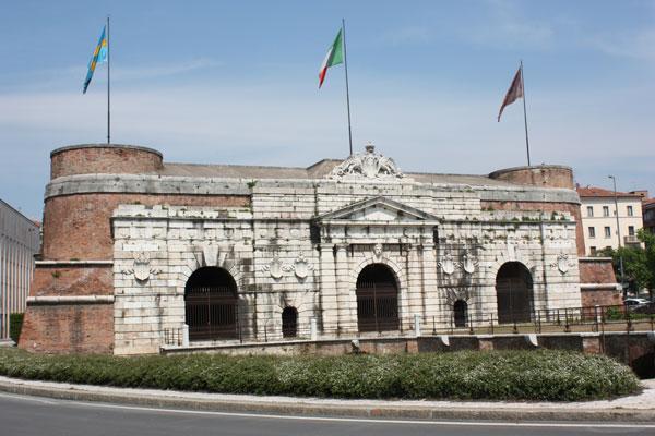 Vista panorâmica da muralha fortificada