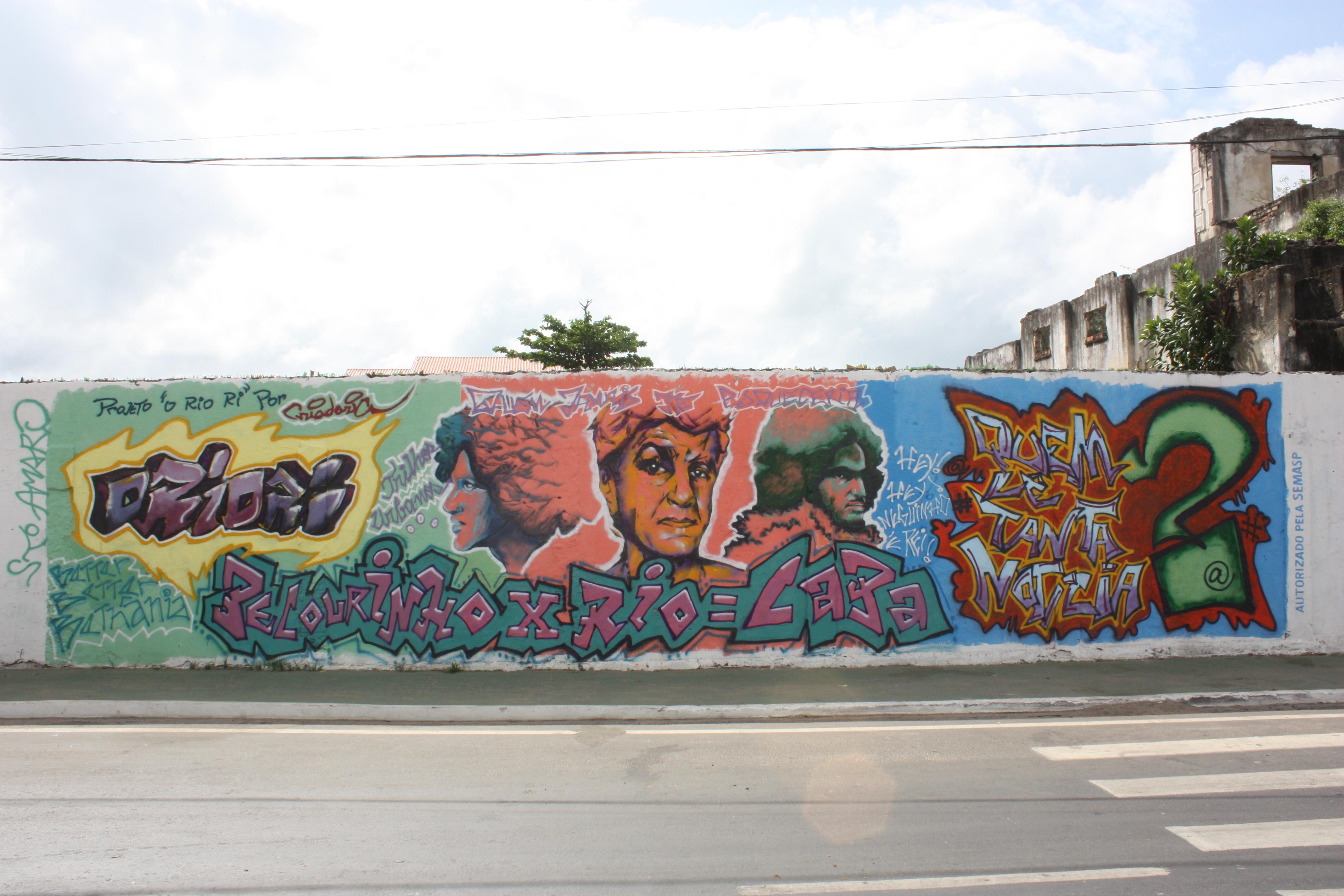 Grafite autorizado retrata fases musicais de Caetano Veloso