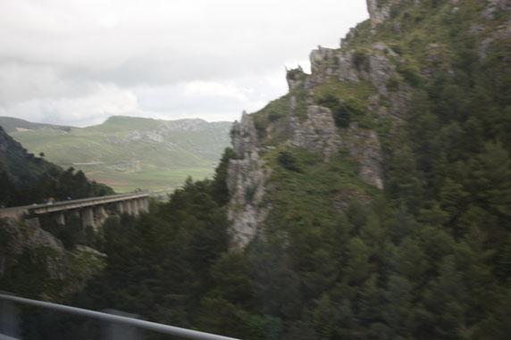 Vista parcial da colina