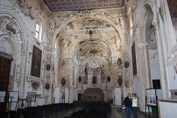 Interior da igreja de Santa Margherita