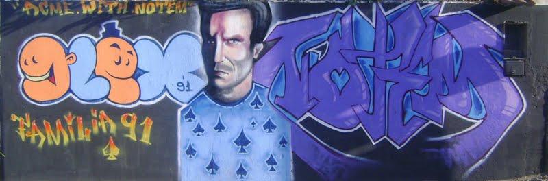 Grafite de Notem com o parceiro With, na época da Crew 91